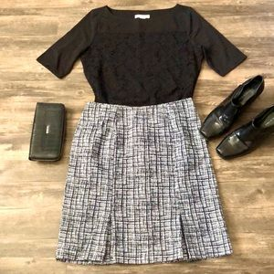 WHBM Plaid Winter Skirt